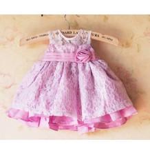 Robe de cérémonie   demoiselle d'honneur petite fille Rose 1M - 4 ans