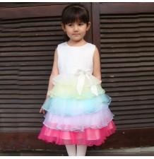 """Robe Cérémonie Demoiselle d'honneur Fille Modèle """"Rainbow Princess"""" 1-8 ans"""