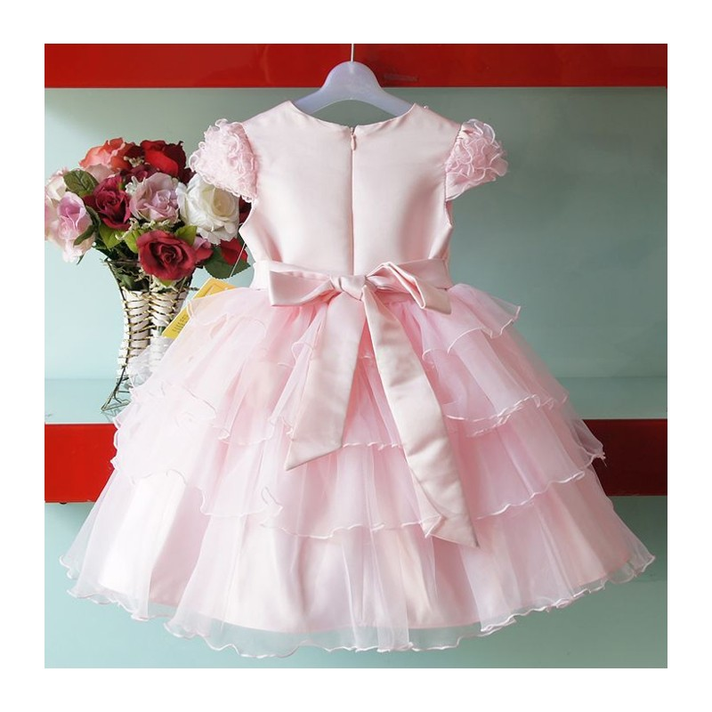 White And Baby Pink Flower Girl Dresses 42