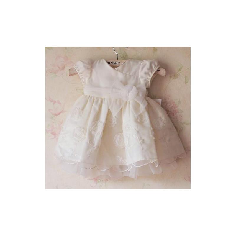 Flower Girl Formal Dress White 6-24 months