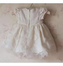 Vestito Cerimonia   Damigella Bambina Bianco 6-24 mesi