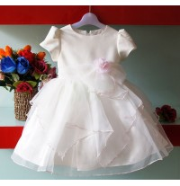 Flower Girl Formal Dress 1 - 7 years White Pink