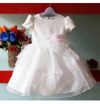 Vestito Cerimonia | Damigella Bambina Bianco 4 - 7 anni