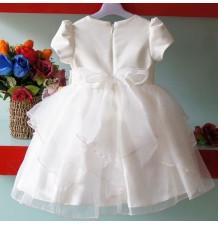 Robe de cérémonie   Demoiselle d'honneur blanche rose 1-7 ans
