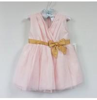 Baby Flower Girl Shantung Formal Dress Pink 9-24M
