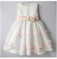 Vestito Cerimonia Bambina Damigella 3- 6 anni Colore Rosa Bianco