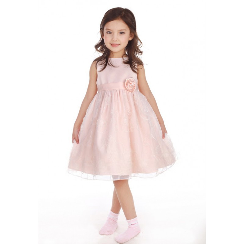 Flower Girl Formal Dress 3T Pink  SWEET MOMMY