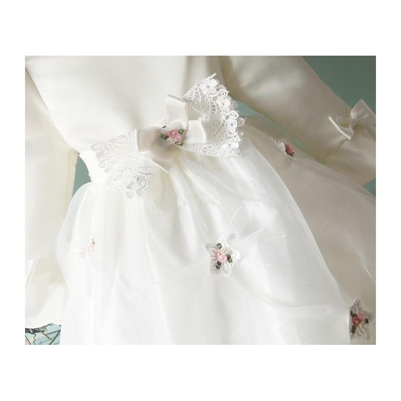 Baby flower girl long sleeve formal dress 2 6T