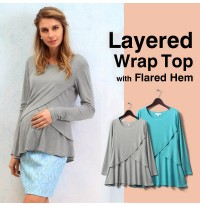Layered Wrap Maternity and Nursing Top