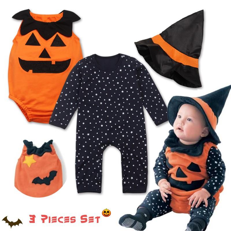 Vestiti Halloween Bambina 3 Anni.Costume Tutina 3 Pz Di Halloween Per Bambino 0 3 Anni