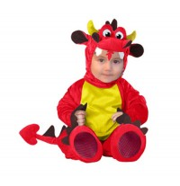 Costume de Carnaval Enfant Drague Rouge 6-12 mois
