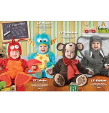 Incharacter Costume de Carnaval Enfant Monstre 0-4 ans