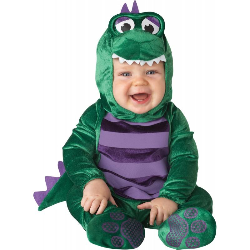 Incharacter Dinky Dino Costume de Carnaval Enfant Dinosaure 0-24 mois
