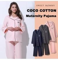 Pyjama de maternité et allaitement en coton 3 pièces