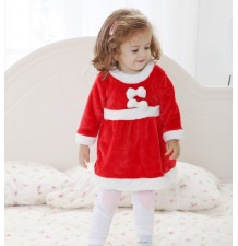 Completino Costume Babbo Natale Bambina 80cm - 95cm