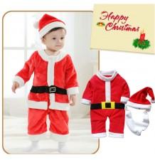 Costume de Père Noel petit enfant  80cm - 95cm