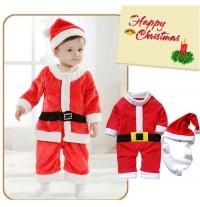 Completino Costume Babbo Natale Bambino 80cm - 95cm