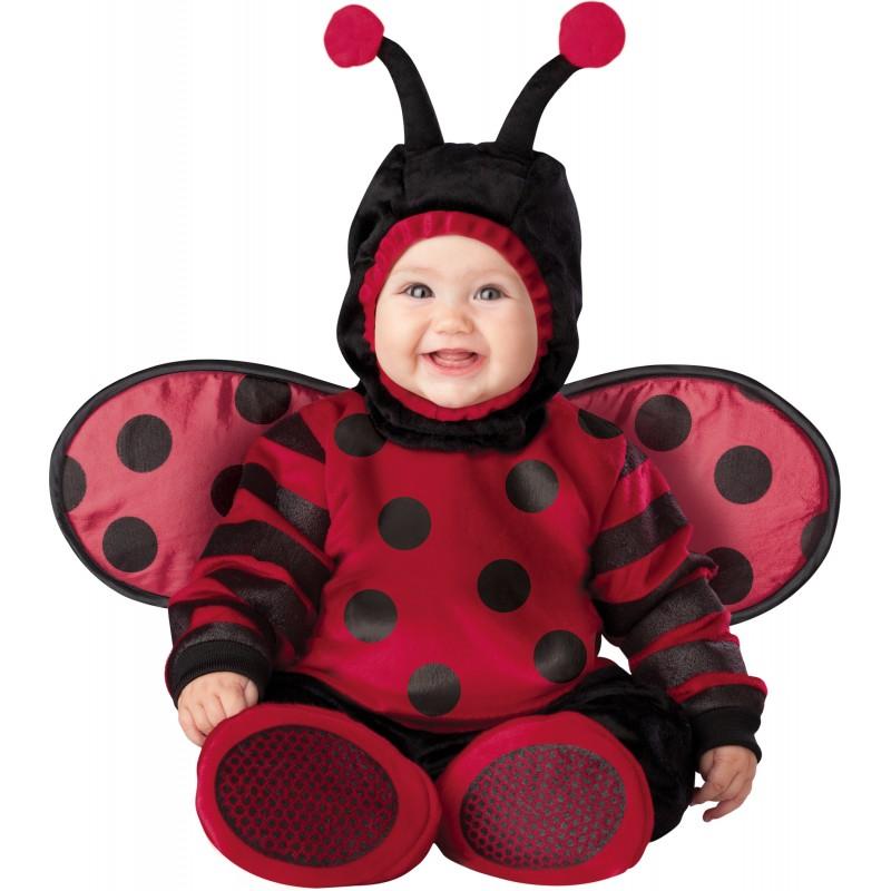 Costume Carnevale Coccinella per Bambina Incharacter 0,4 anni