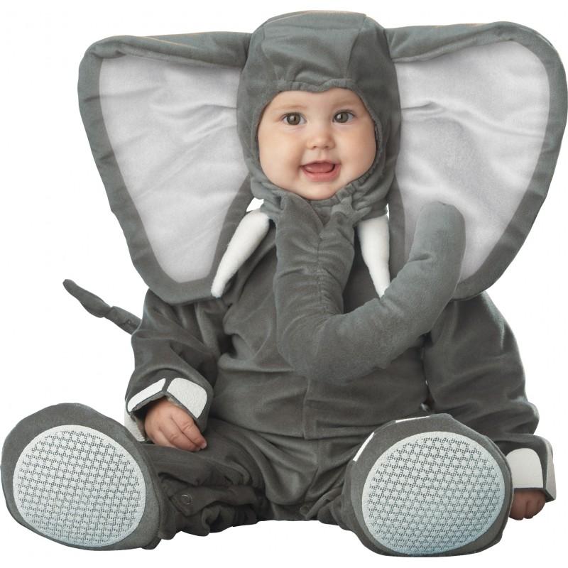 Costume Carnevale Elefantino per Bambino Incharacter 0-4 anni