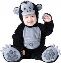 Incharacter Costume de Carnaval Enfant Gorille 0-24 mois