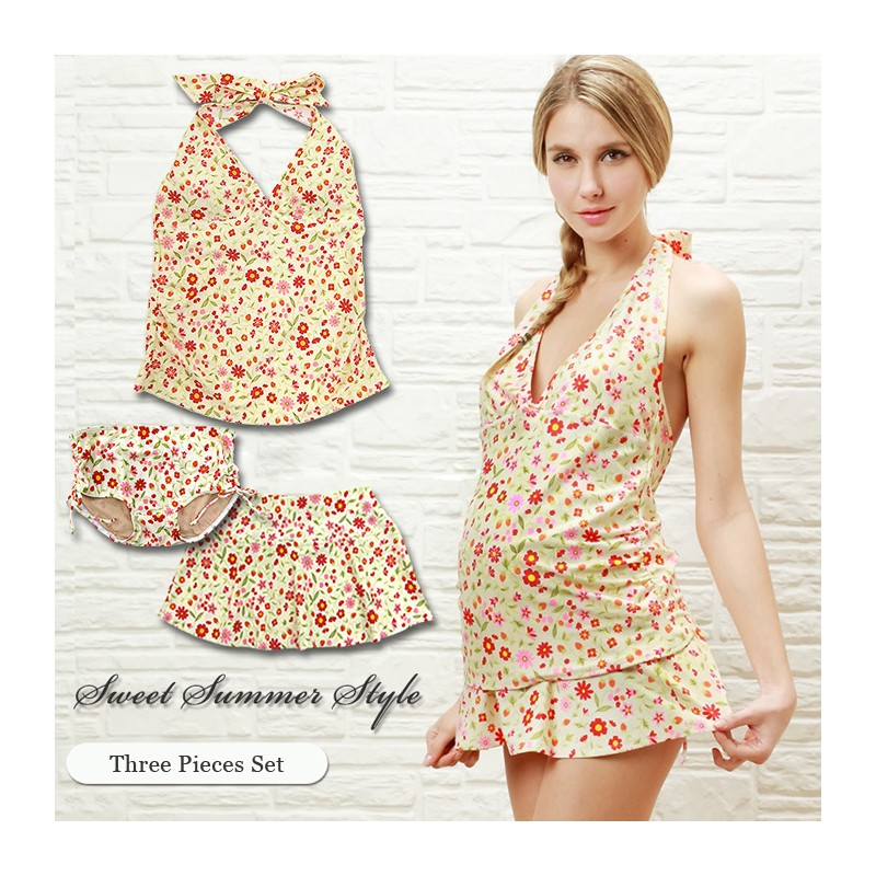 Costume a fiori per donne incinte sweet mommy - In costume da bagno ...