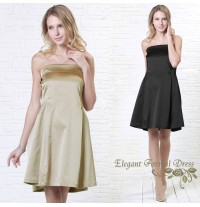 Satin Bare Top Maternity Nursing Ceremony Dress