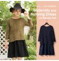 Bouclé Knit Maternity Nursing Dress