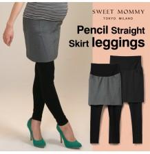 Leggings de grossesse avec jupe