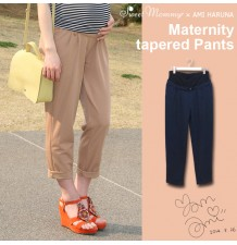 Adjustable Waist Fine Linen Maternity Trousers