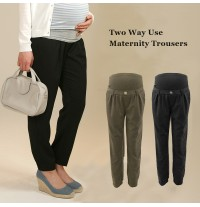 Adjustable Waist and length maternity trousers