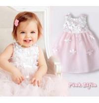 Flower girl formal white/ pink dress 4 years