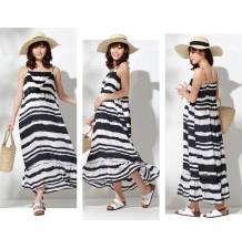 Maternity and nursing brushstroke stripe maxi dress