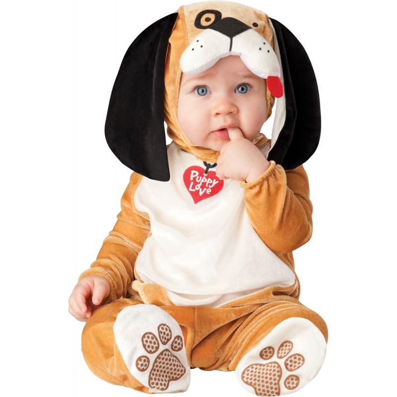 Incharacter Dinky Dino Costume de Carnaval Enfant Puppy Love 0-6 mois