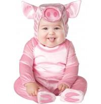 Costume Carnevale Maialina per Bambina Incharacter 0-24 mesi