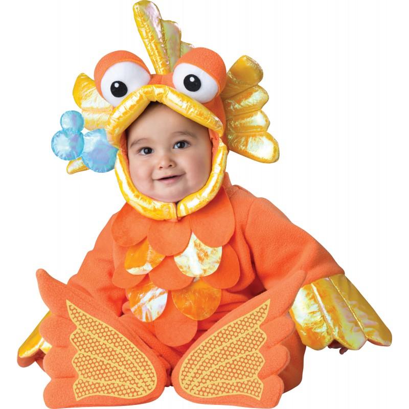 Incharacter Costume de Carnaval Enfant Poisson Rouge 12-24 mois