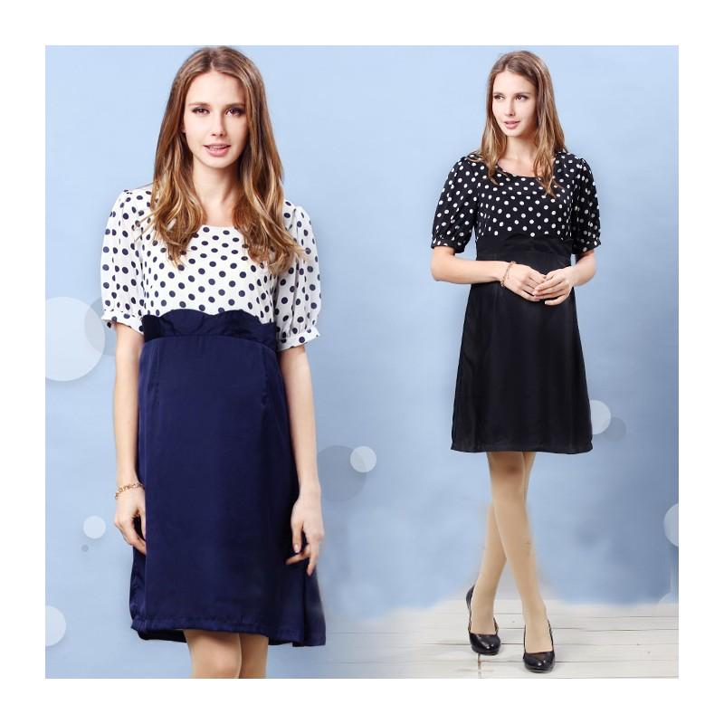 Polka dot pregnancy dress for pictures