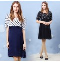 Switch Dot Design Maternity Dress