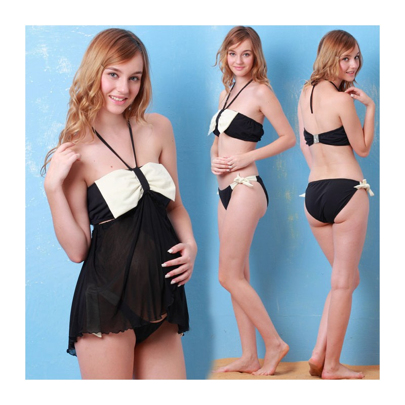 Transformable Tankini & Bikini Maternity Nursing Swimsuit