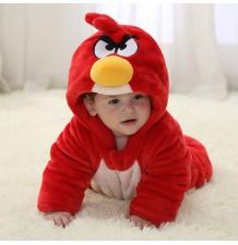 Costume Bambino Angry Bird Rosso