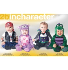 Costume Carnevale Huggable Hippo Incharacter 0-24M Bambina