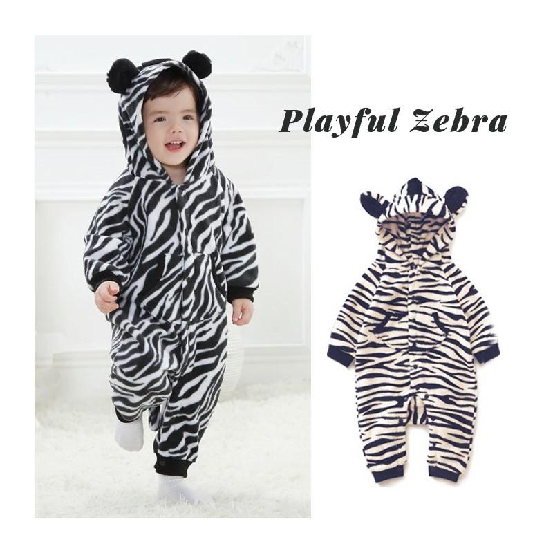 Tutina Costume di carnevale da zebra per bambino e bambina ... c7d7c745e3c