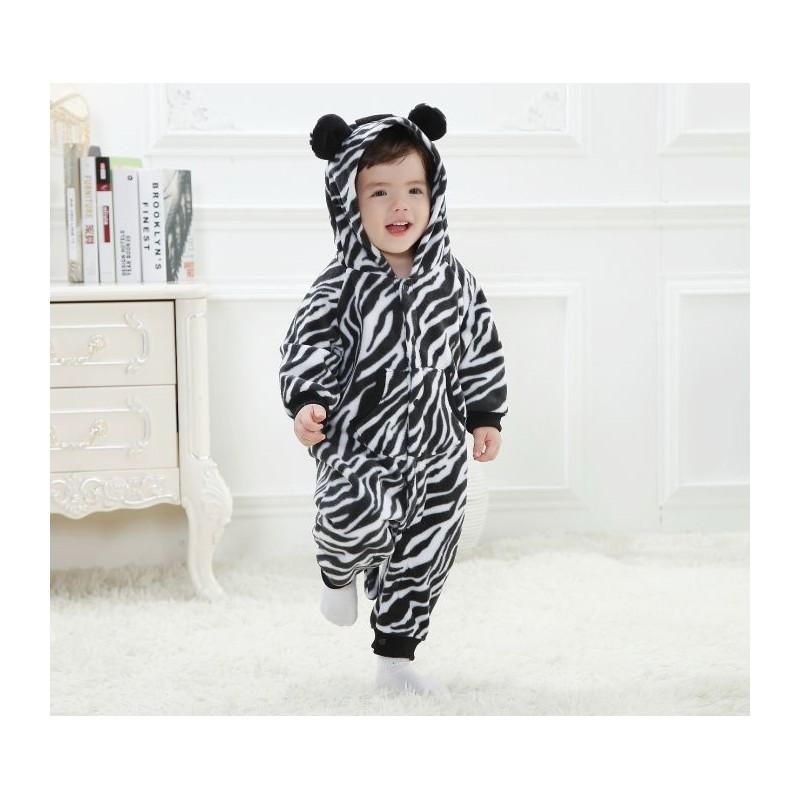 ... Tutina Costume di carnevale da zebra per bambino e bambina ... c35fe92fe66