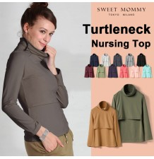 Turtleneck Nursing TOP Milk Shirt
