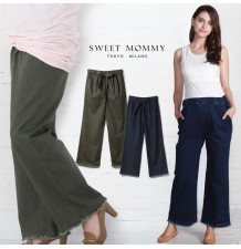 Adjustable waist maternity denim trousers