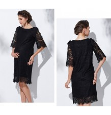 Maternity and nursing lace formal dress nursing elegant dress