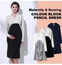 Vestito premaman e allattamento a maniche lunghe