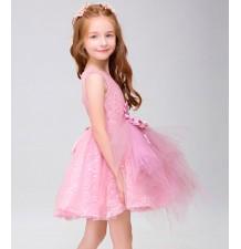 Robe rose de cérémonie fille - demoiselle d'honneur 100-150cm