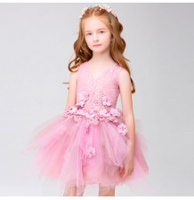 Flower girl formal dress pink colour 100-150 cm