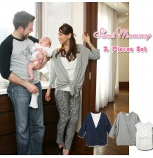 Maternity Nursing Two-Piece Top Set