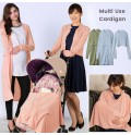 Maternity and nursing cardigan with multipurpose extension